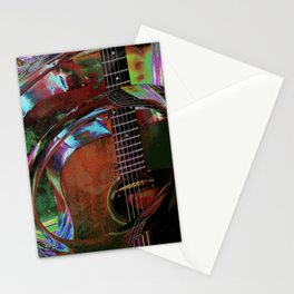 The Magic of Guitar Waves Stationery Cards
