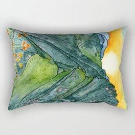 Watercolor Mountain Range Rectangular Pillow