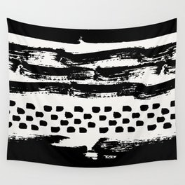 Brush Stroke Waves Wall Tapestry