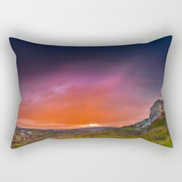 Fire on the sky Wicklow Mountains Rectangular Pillow