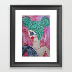 Green Minnie Framed Art Print