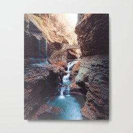 Waterfall at Watkins Glen Metal Print