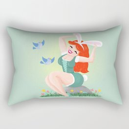 Getting Ready For Spring Rectangular Pillow