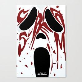 wes craven: scream Canvas Print