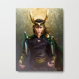 Loki- Golden Sunburst Metal Print