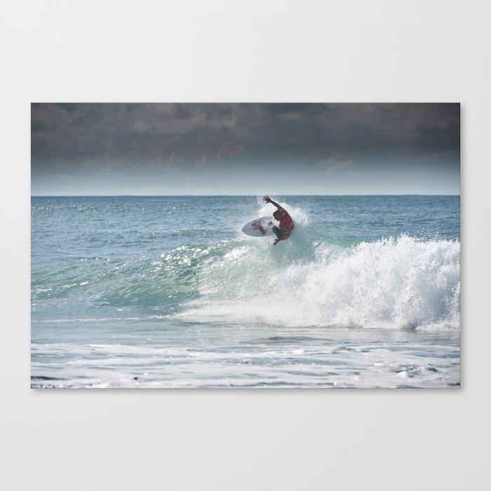 Legend & Pro Surfer Kelly Slater, France, 2013 Canvas Print