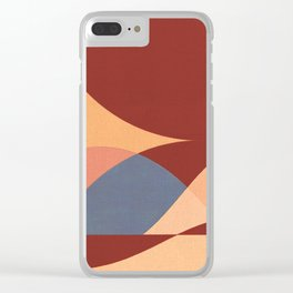 Sinuous Curves 1 Clear iPhone Case