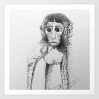 Dotted Monkey Art Print