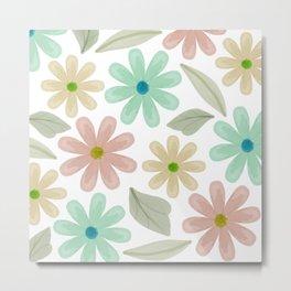pastel daisies Metal Print