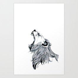 Growling Lion Art Print
