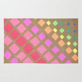 Multi Colored Squares Rug