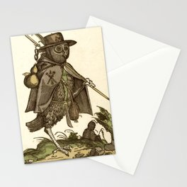 Owl dressed as a pilgrim 1550 Stationery Cards
