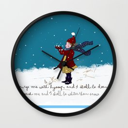 Snow day with bible verse Wall Clock