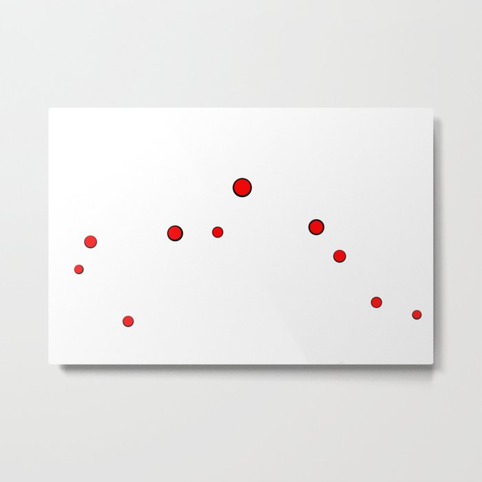Simply Dots Metal Print