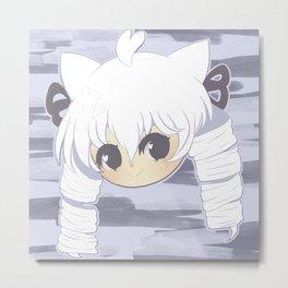 Neko mimi series SHIRO Metal Print