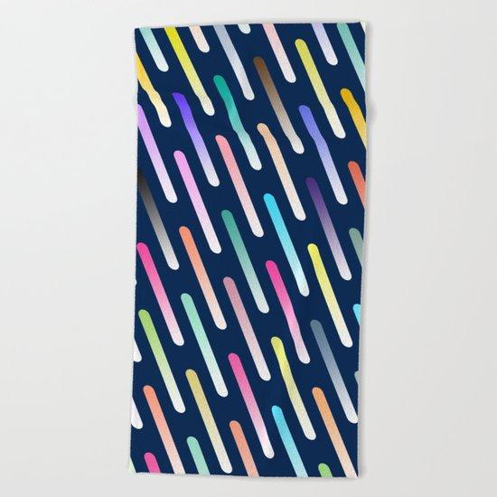 Abstract cosmic rain Beach Towel
