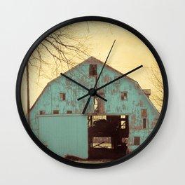 Rustic Teal Barn A454 Wall Clock