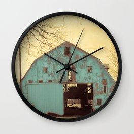 Rustic Teal Barn Modern Country Cottage Chic Farmhouse A454 Wall Clock