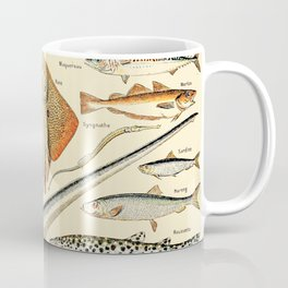 Vintage Fishing Diagram // Poissons by Adolphe Millot XL 19th Century Science Textbook Artwork Coffee Mug