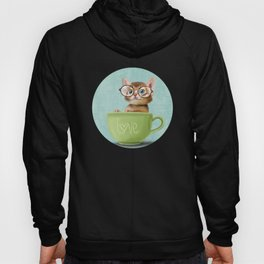 Kitten with glasses Hoody
