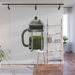 French Press - Olive Green Wall Mural