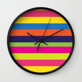World of Stripes Wall Clock
