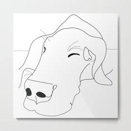 Great Dane Sketch Metal Print
