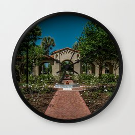 Courtyard on Campus at Rollins College Winter Park Central Florida Orlando Wall Clock