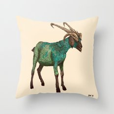 Babes in Woodland (Goat) Throw Pillow