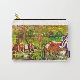 Oryx Beisa and Crocuta Trees Carry-All Pouch