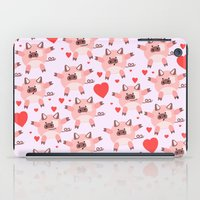 pigs iPad Cases featuring pigs by elvia montemayor