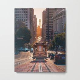 San Francisco Trolley (Color) Metal Print