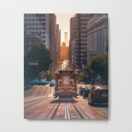 San Francisco Trolley (Color) Metal Print