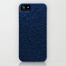 Dark Blue Fleecy Material Texture iPhone Case