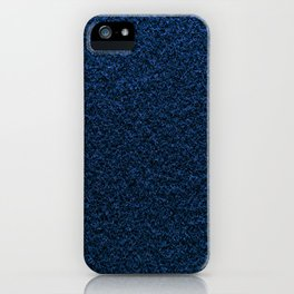 Dark Blue Fleecy Material Texture iPhone Case