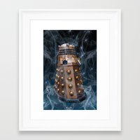 dalek Framed Art Prints featuring Dalek by Steve Purnell