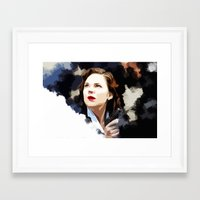 peggy carter Framed Art Prints featuring Peggy Carter by Ms. Givens