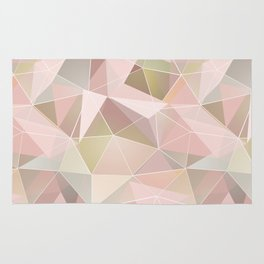 Broken glass in light pink tones. Rug