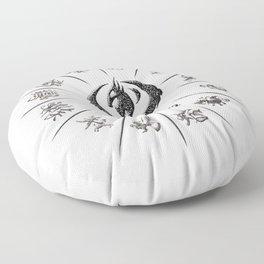 The Zodiac 12 Wheel Floor Pillow