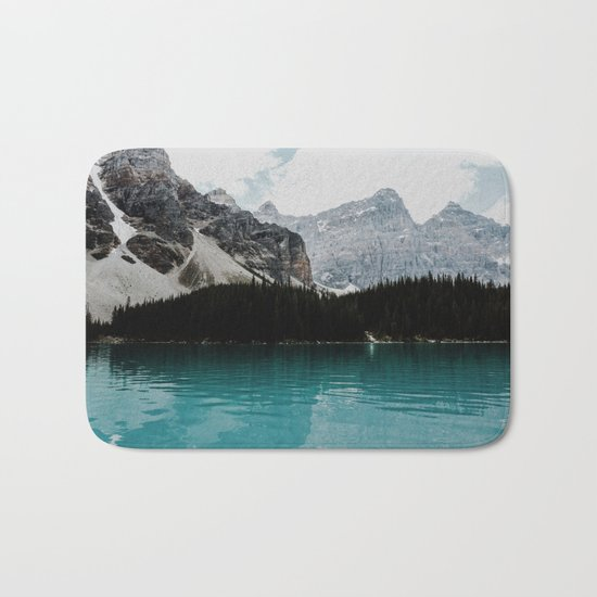 Lake Moraine, Banff National Park Bath Mat