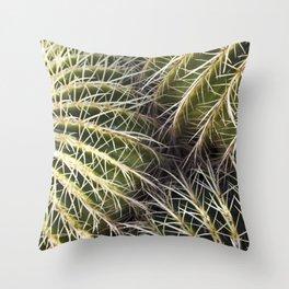 Where the Barrel Cactus Meet Throw Pillow