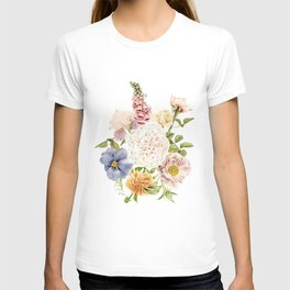 Radiant Blooms Watercolor Bouquet T-shirt