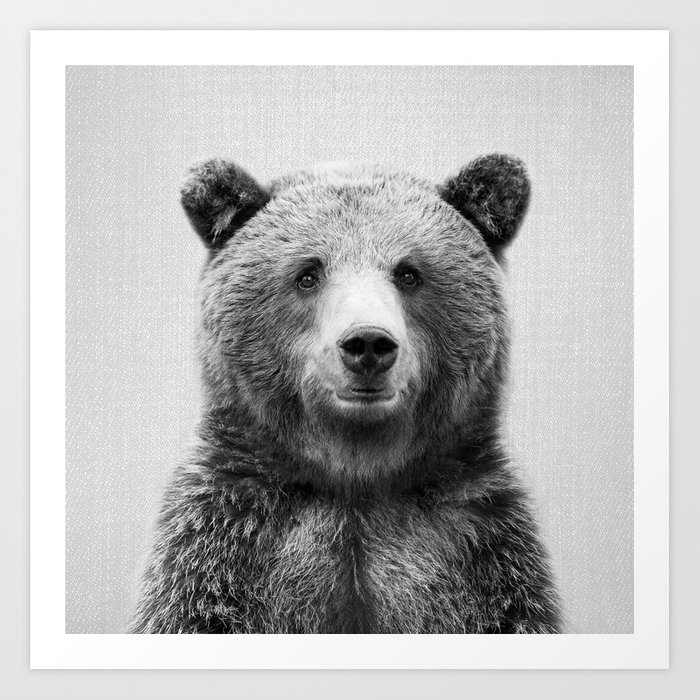 Grizzly Bear - Black & White Kunstdrucke