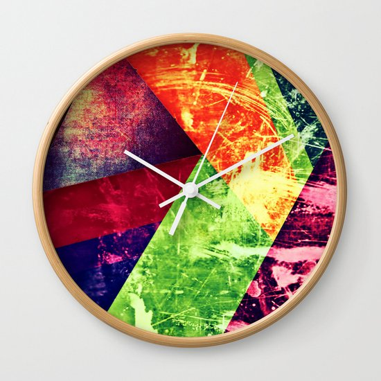 Through colour Wall Clock