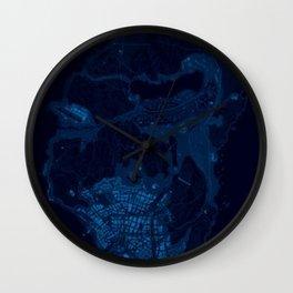 Map of los santos GTA San andreas Wall Clock