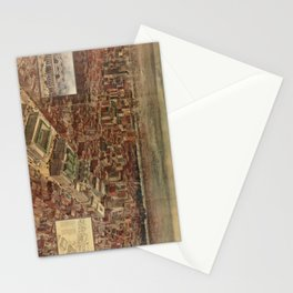 Vintage Penn Station and Surrounding NYC Map Stationery Cards