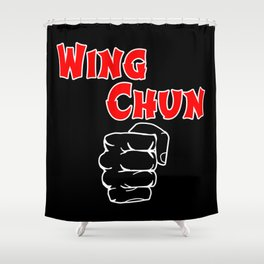 wing chun fist Shower Curtain