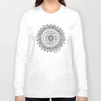 mandala Long Sleeve T-shirts featuring Mandala by Rambutan Designs