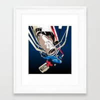 gravity Framed Art Prints featuring gravity by wonman kim