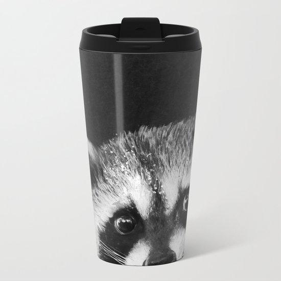 Raccoon  Metal Travel Mug